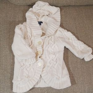 Baby Gap Cable Knit Hooded Sweater